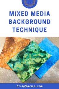 mixed media background technique tutorial