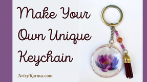 DIY Keychains Using Resin and DIY Stickers - Step by Step Tutorial