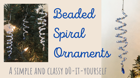 How to Make a Beaded Spiral Ornament Before Christmas