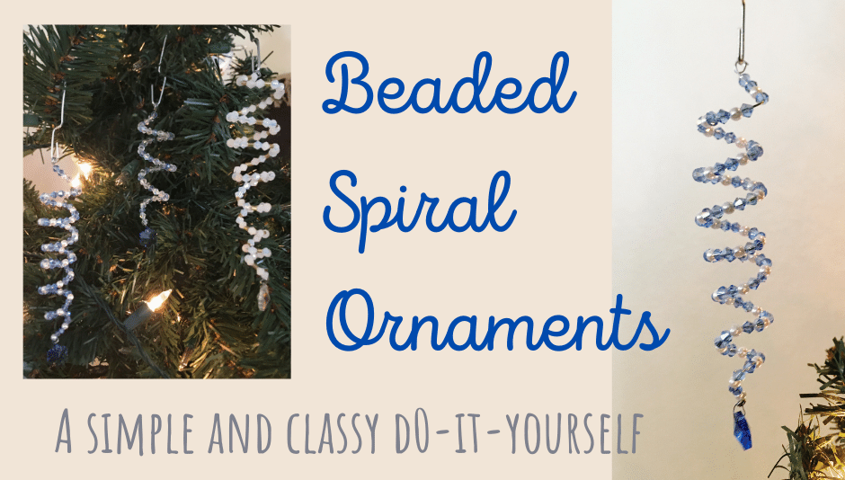 Beaded spiral ornaments diy