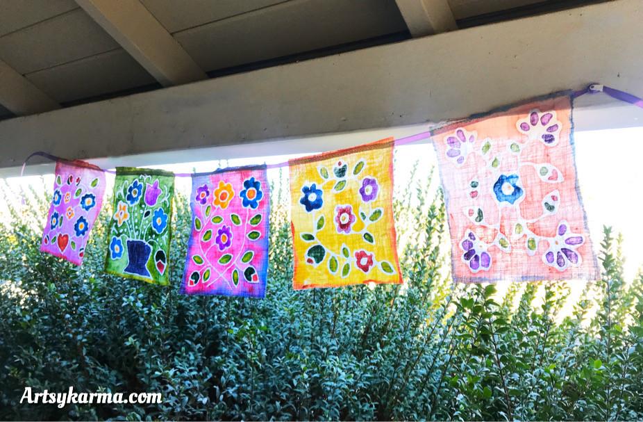 batik designs using gel glue
