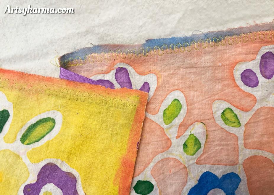 create a pretty stitch in your prayer flags