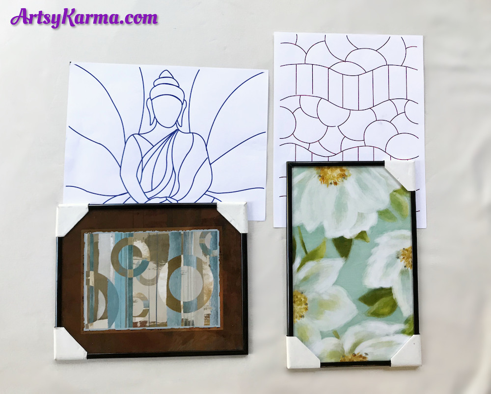 dollar store stained glass designs