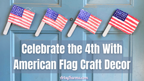DIY American Flag Craft for 4th of July