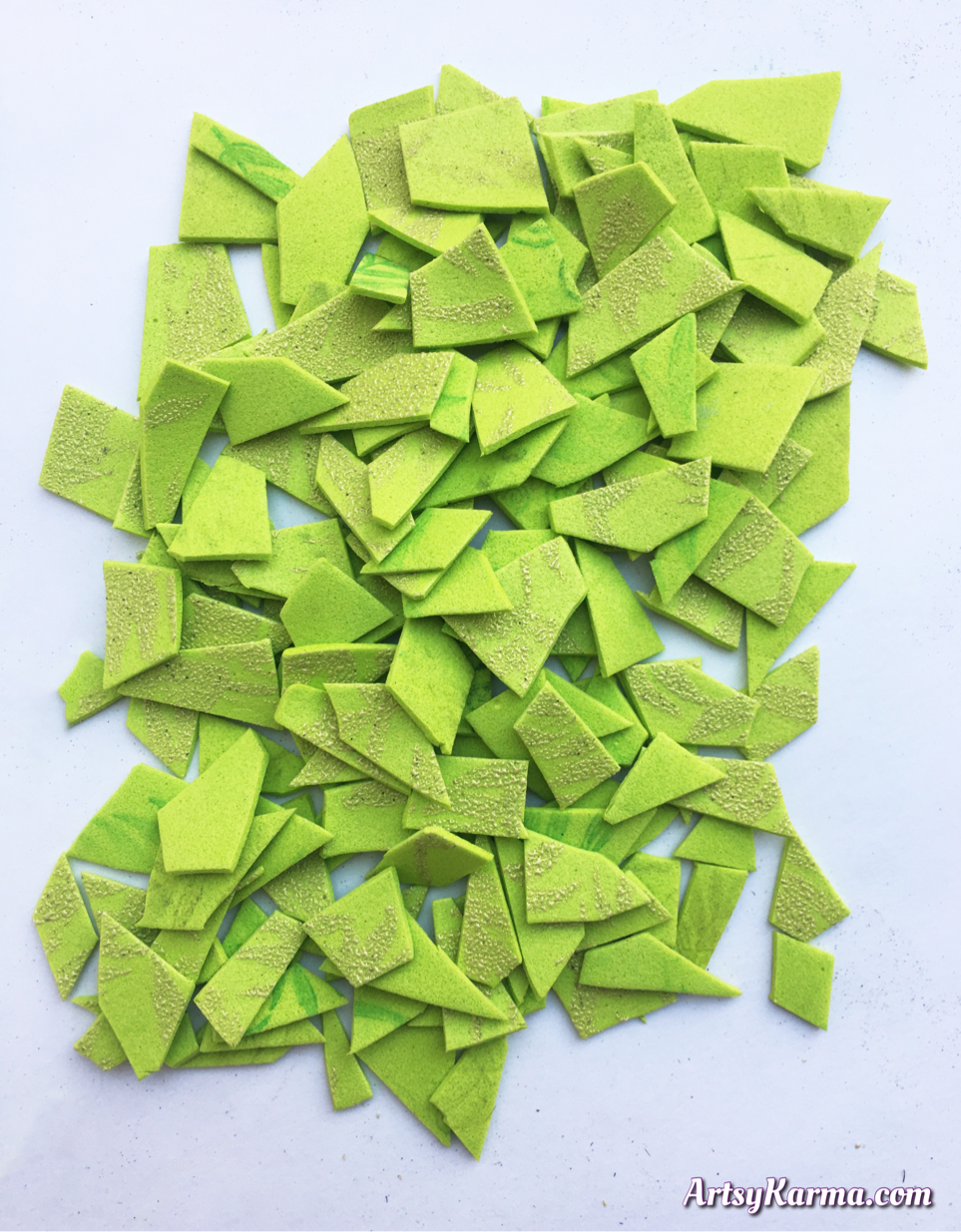 Foam pieces to use as little tiles
