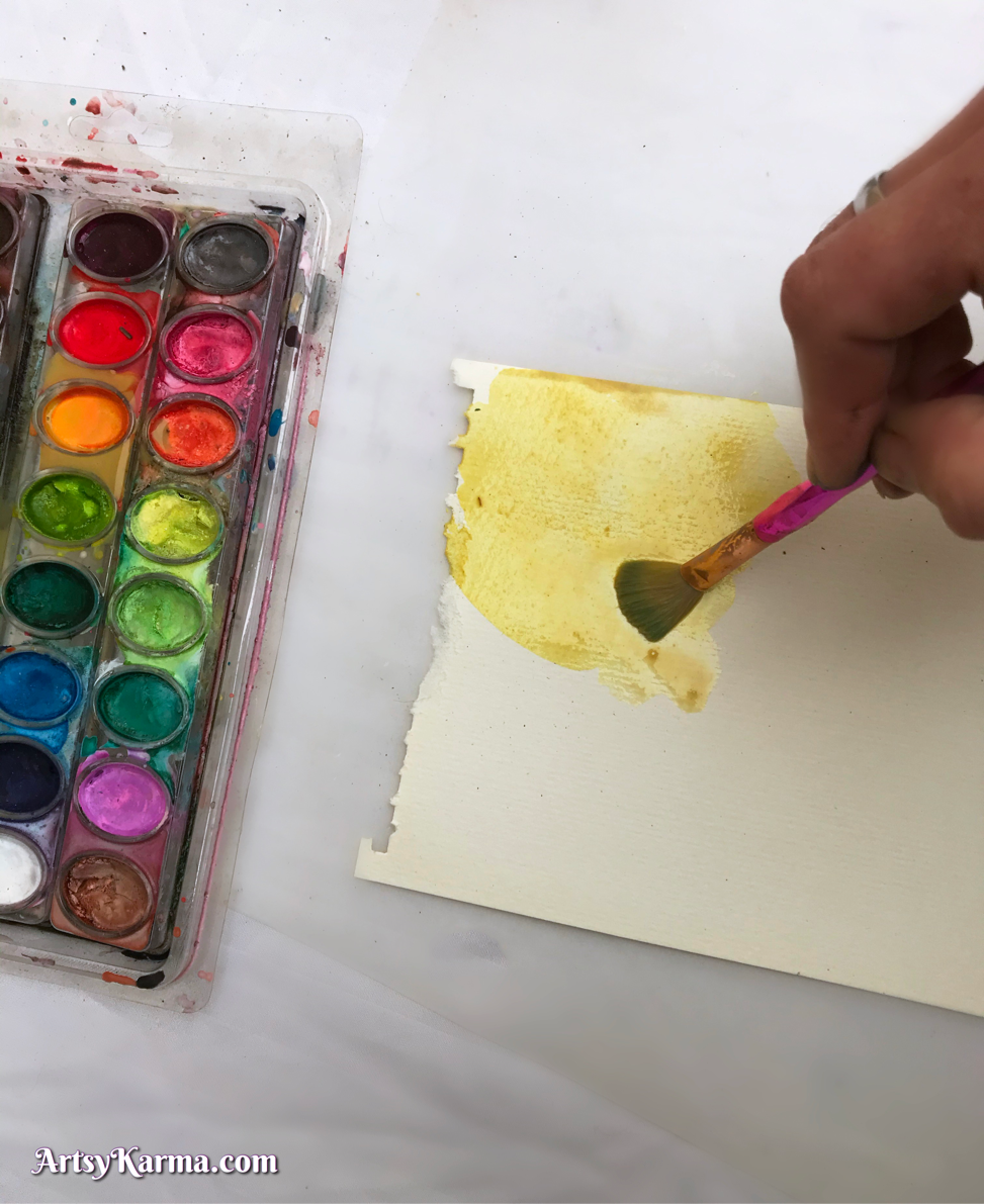 Technique using watercolors and pastels for mixed media