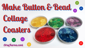 Make Colorful Coasters with Spare Buttons and Beads