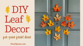 DIY Fall Embellishments for Your Front Door!