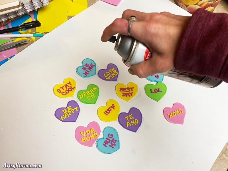 Make conversation hearts for valentines day