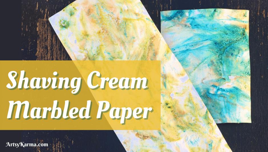Shaving cream marbled paper