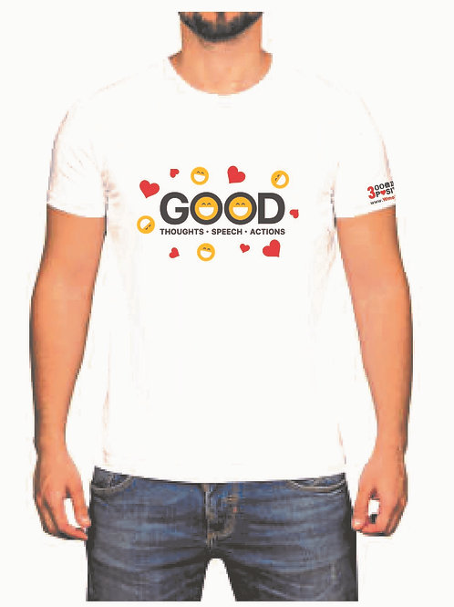 "Positive 3K Classic T-Shirt - ""GOOD Thoughts Speech Actions"""