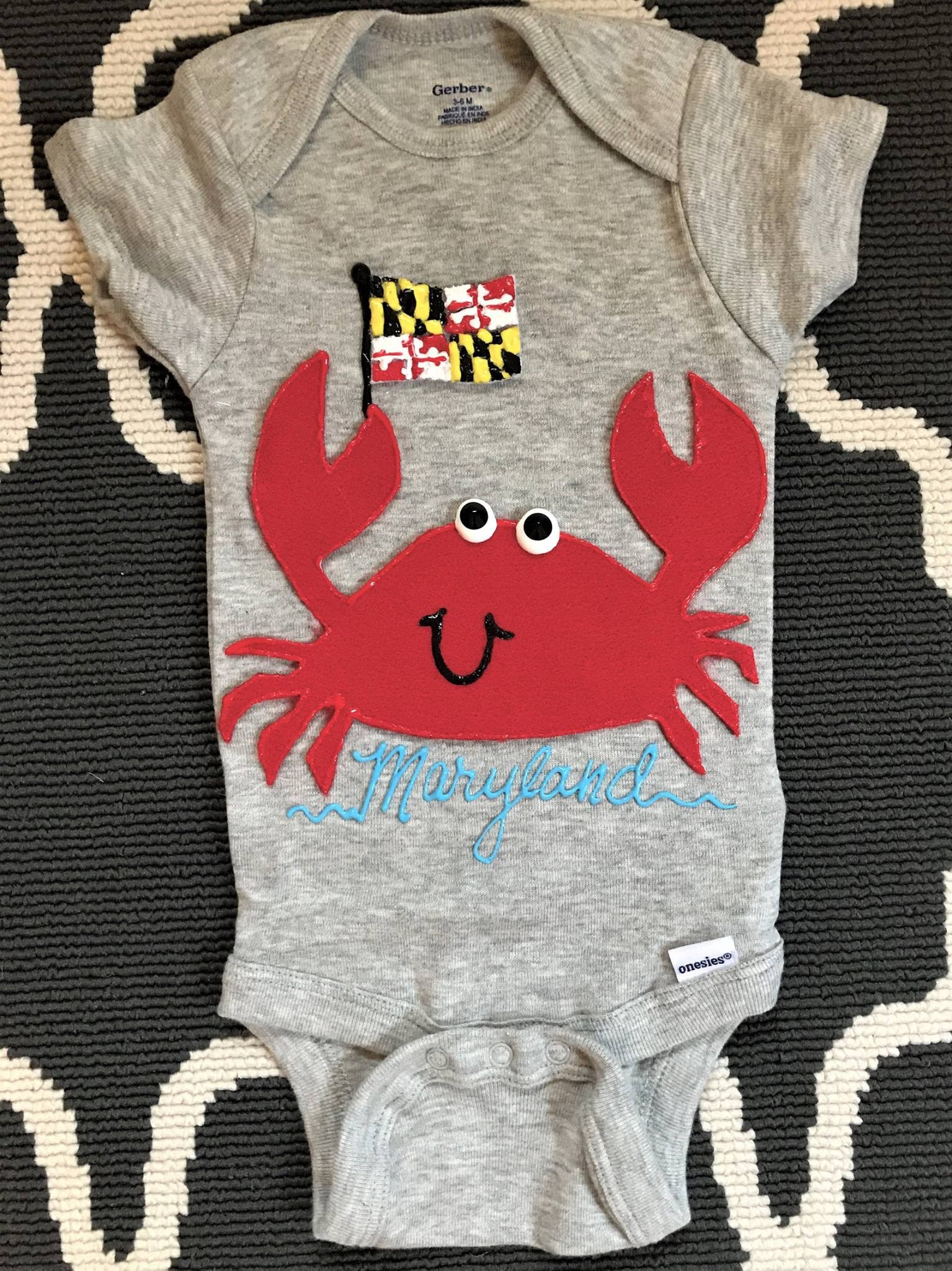 MD Crab Custom Onesie
