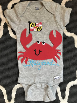 MD Crab Custom Onesie