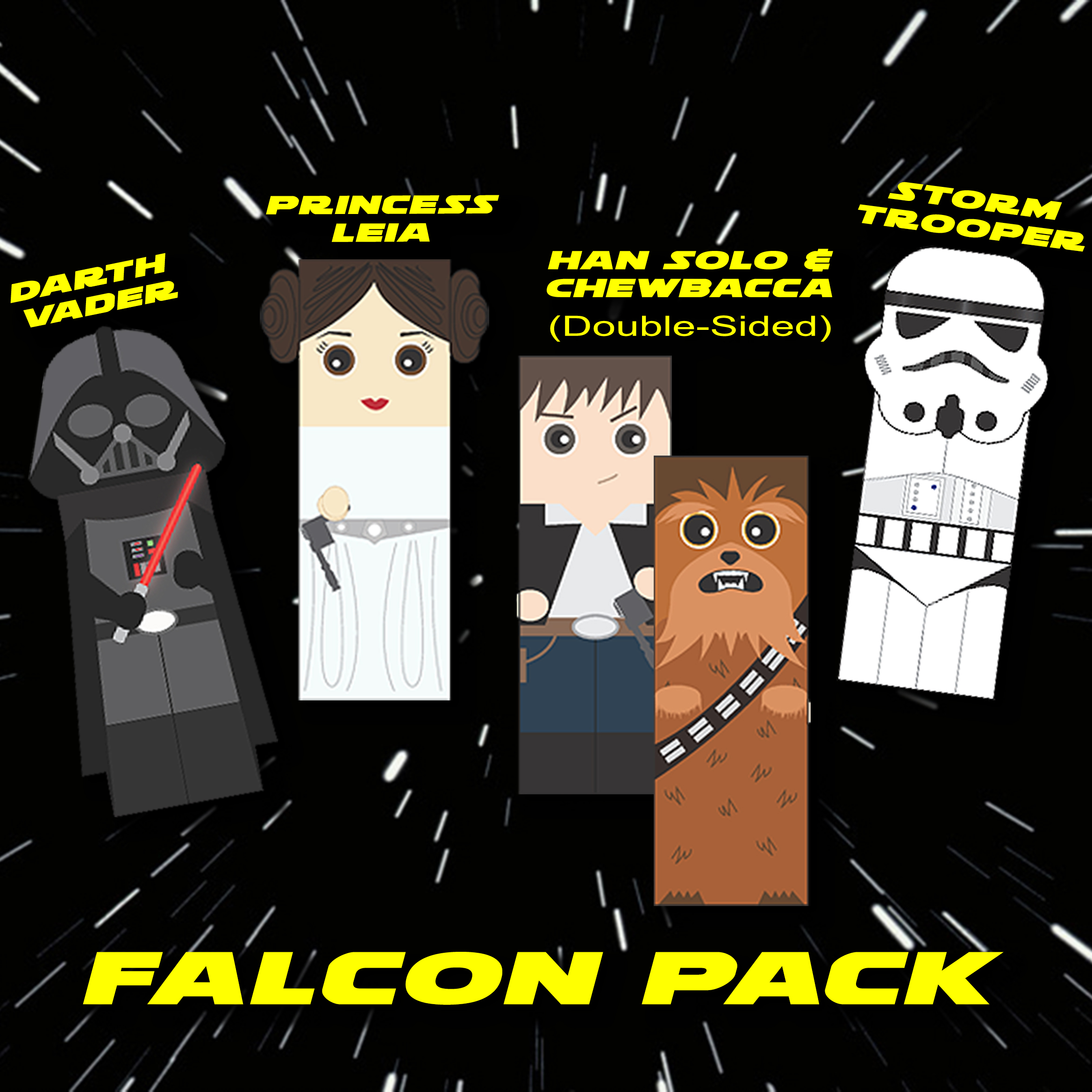 Star Wars Bookmarks_Falcon Pack