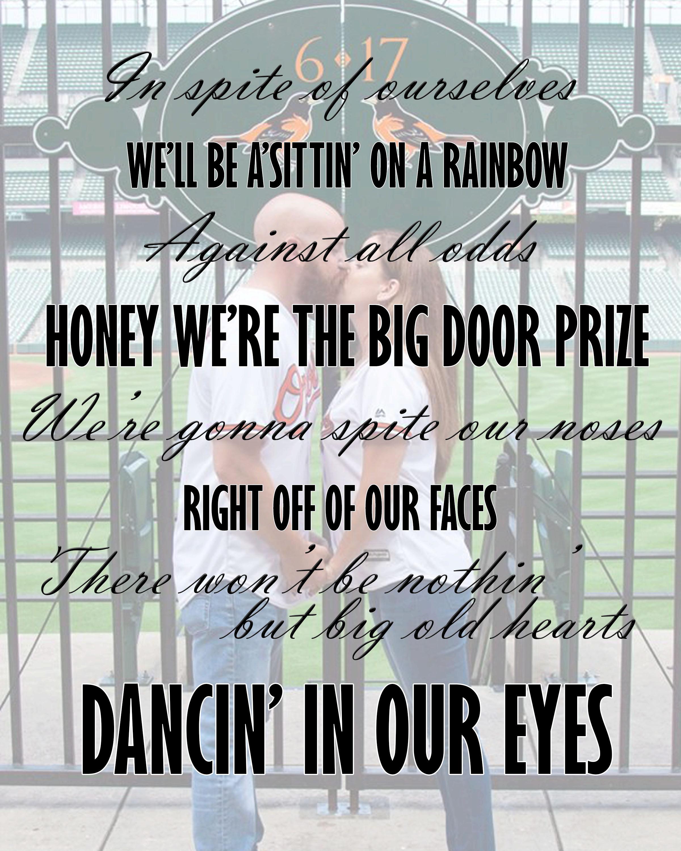 Dancin in Our Eyes-Song Lyrics Print