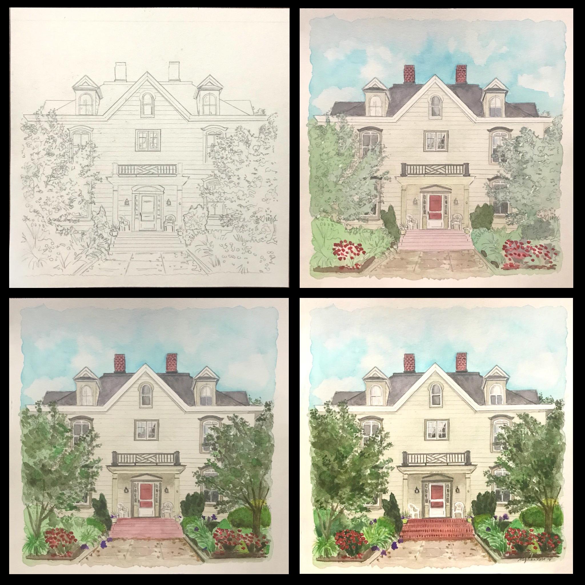Harrisburg PA House Portrait Process