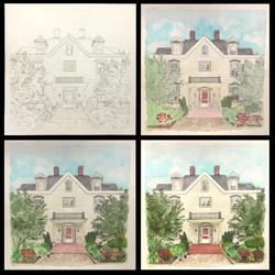 Harrisburg House Portrait Process