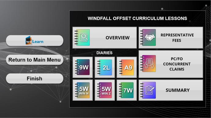 Windfall Offset_Curriculum Menu