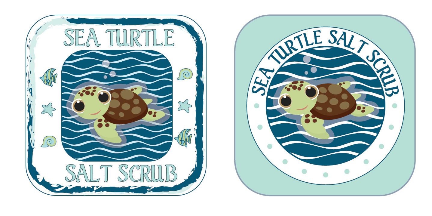 Sea Turtle Salt Scrub_Label Options