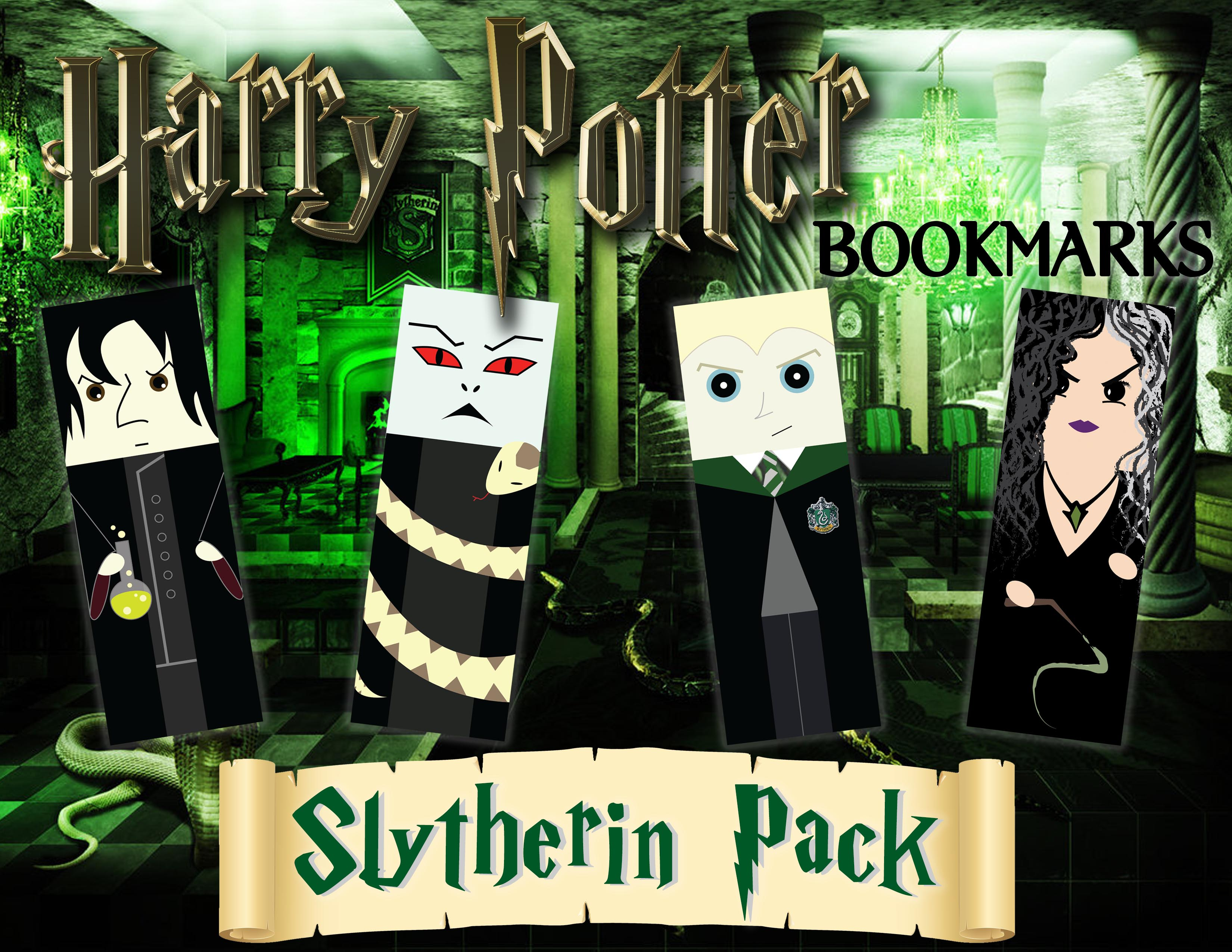 Harry Potter Bookmarks_Slytherins