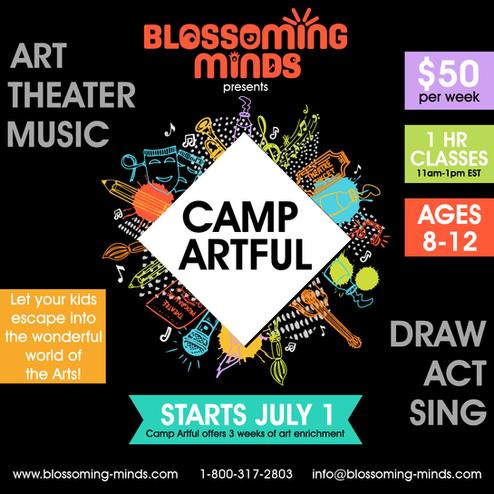 Blossoming Minds_Camp Artful Flier