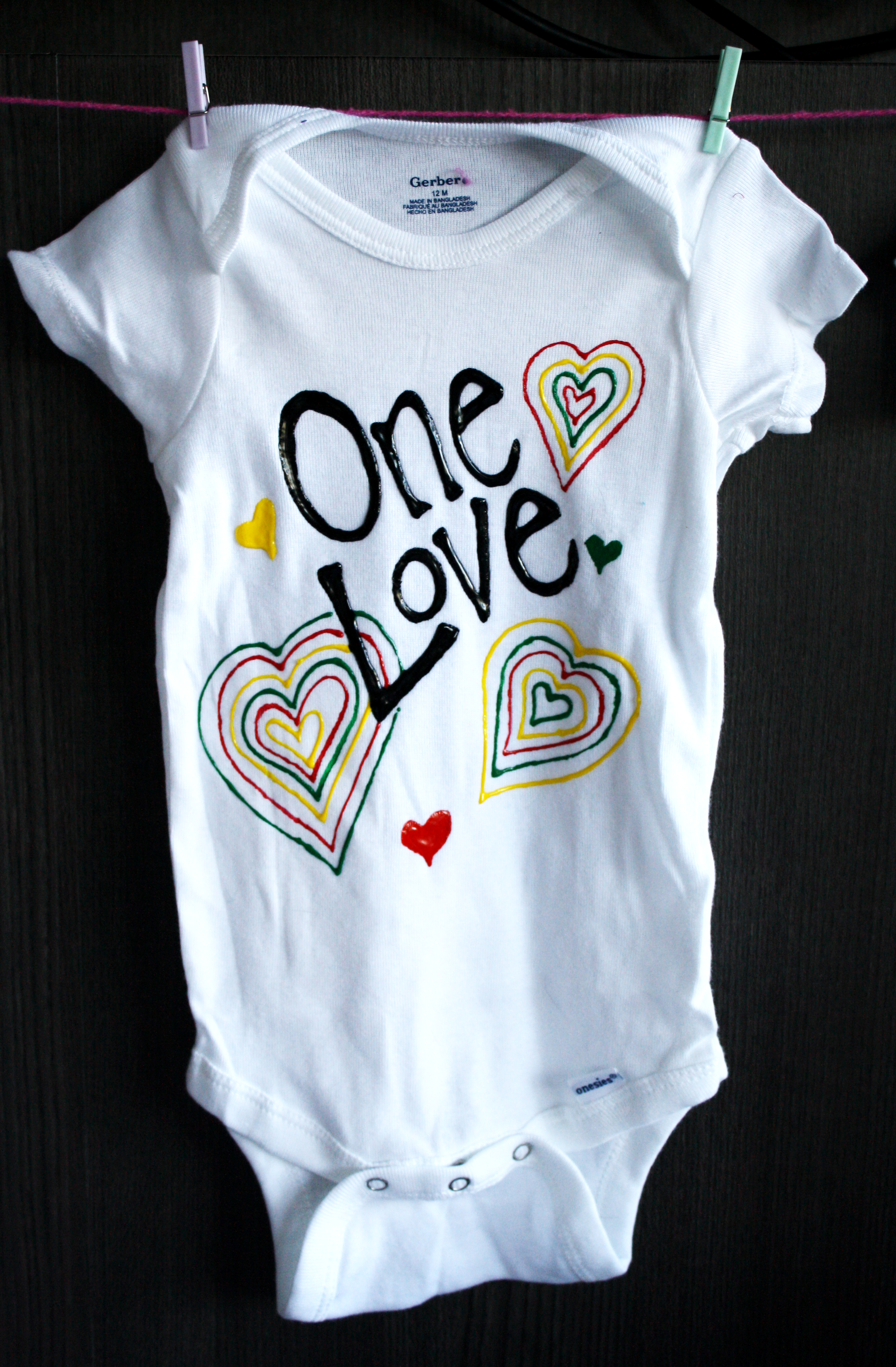 One Love Custom Onesie