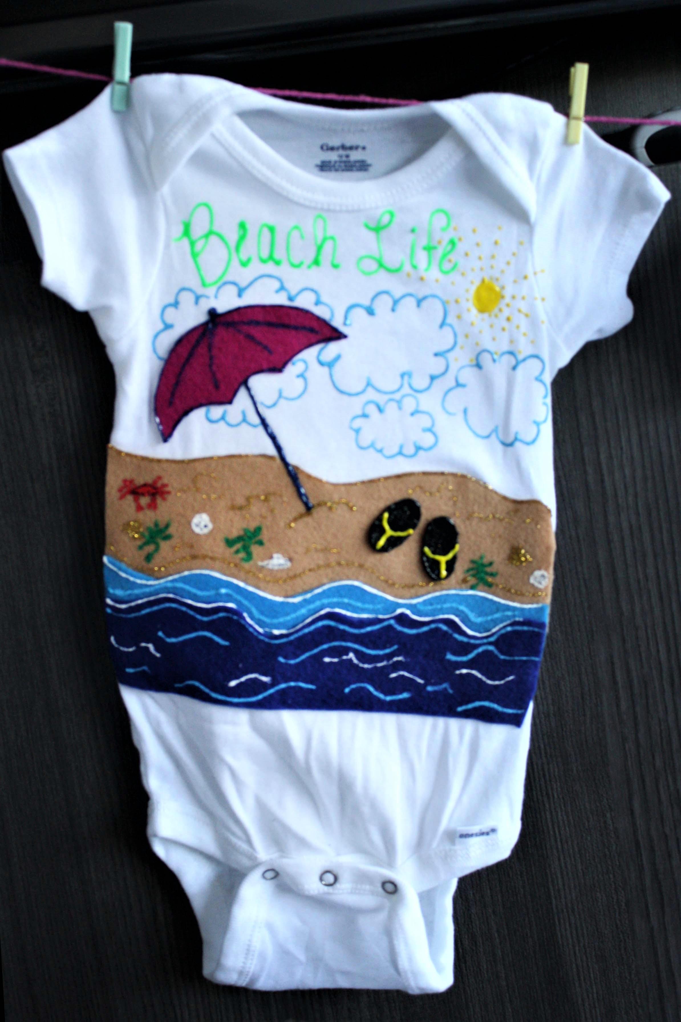 Beach Life Custom Onesie