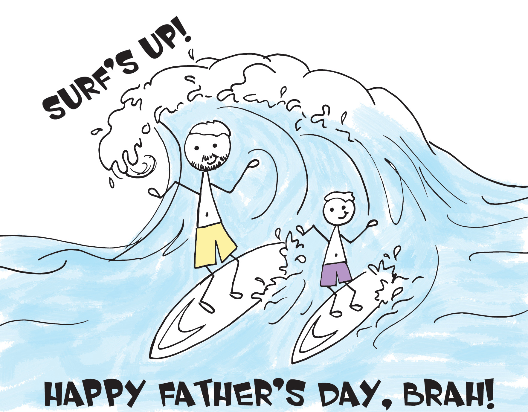 FathersDay_Surfs Up, Dad!