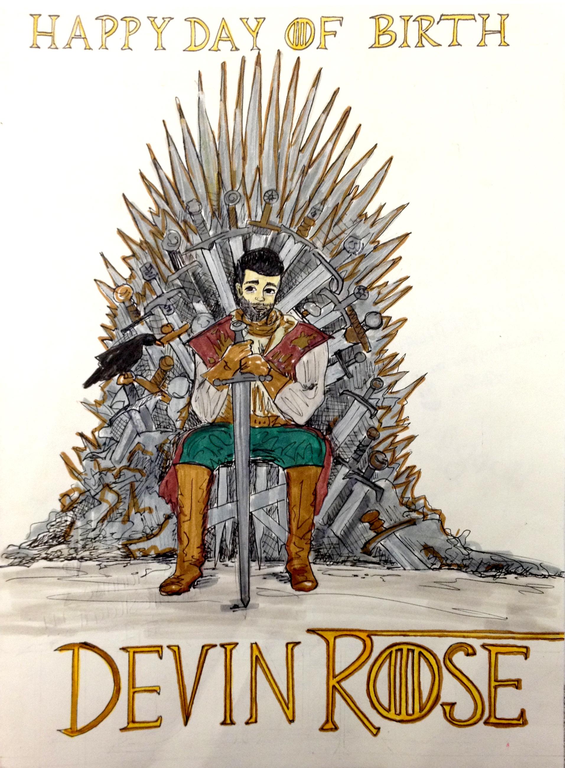 Iron Throne Birthday Card