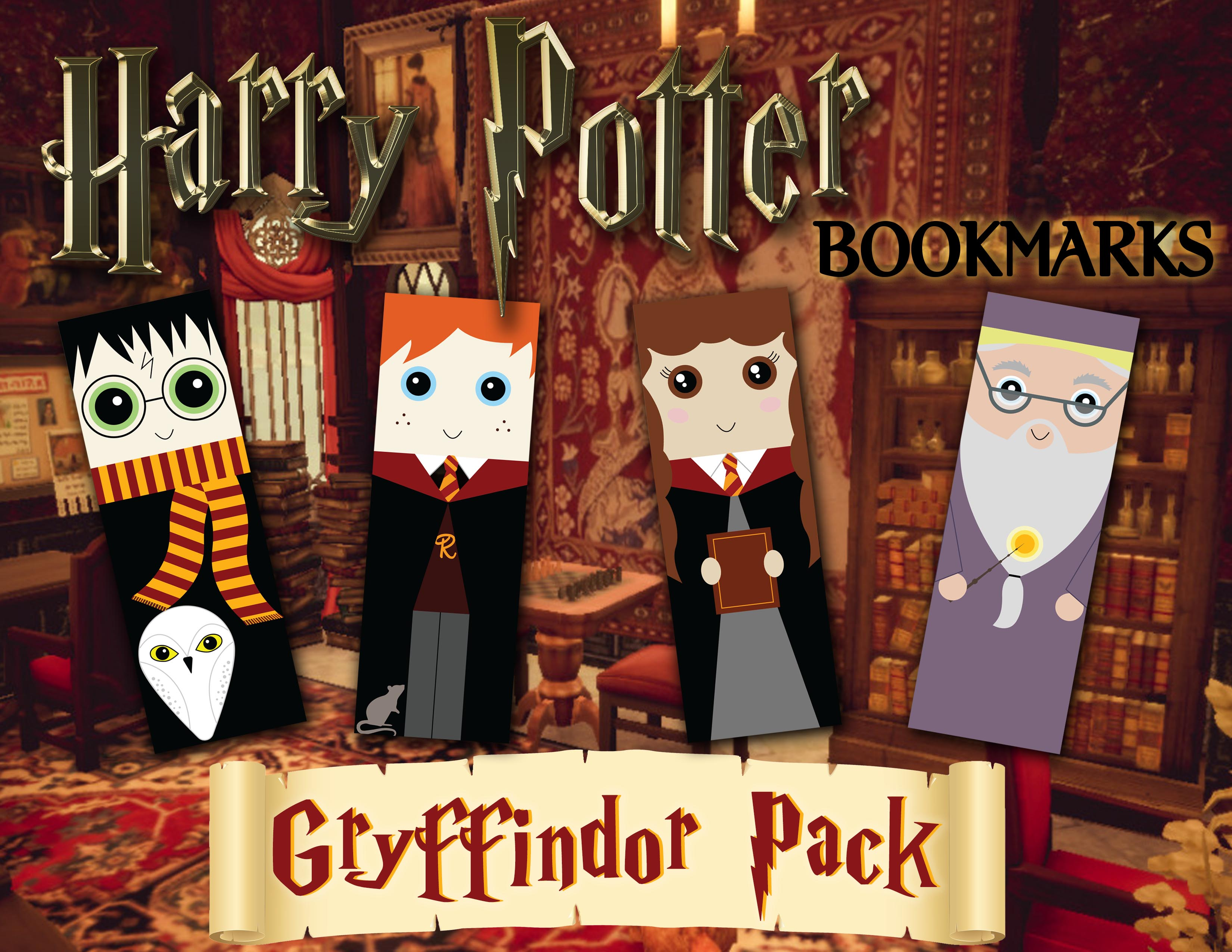 Harry Potter Bookmarks_Gryffindors