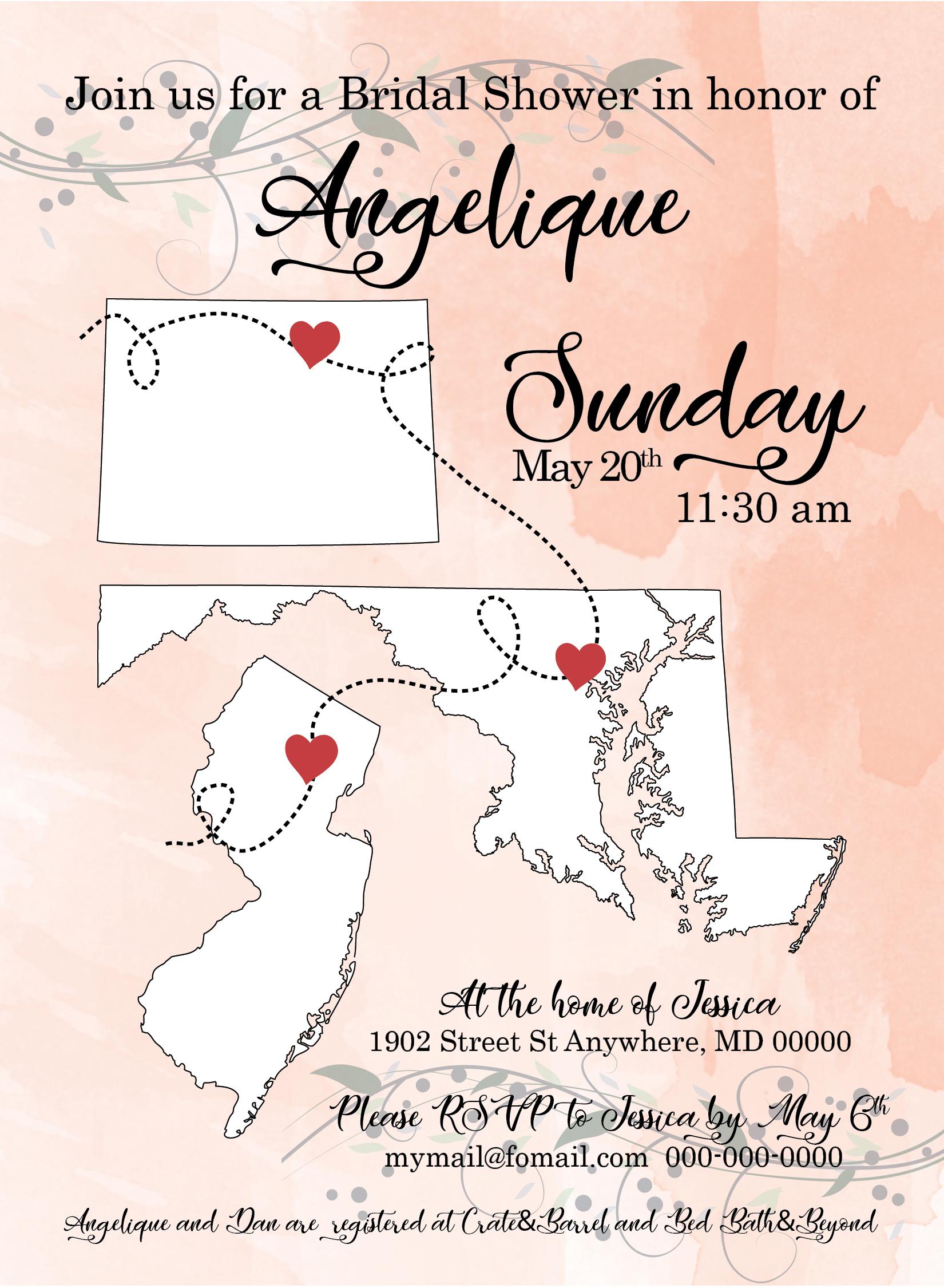 Love in States Wedding Invitation 01