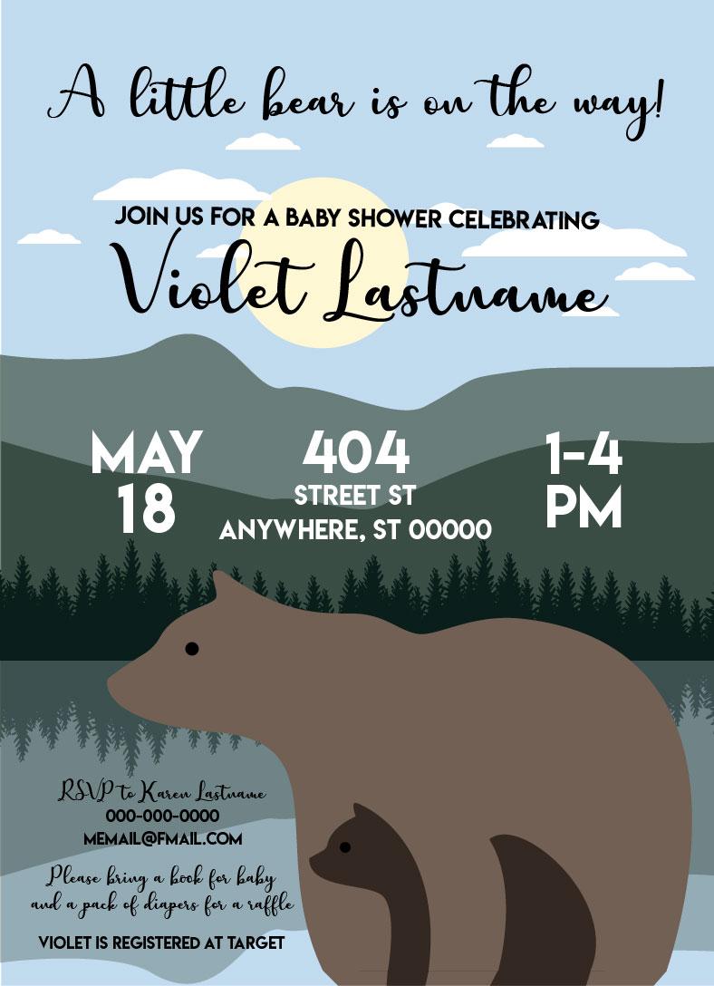 Baby Bear_Baby Shower Invitation 01
