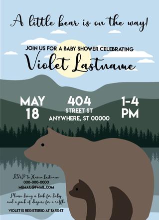 Baby Bear_Baby Shower Invitation_Design