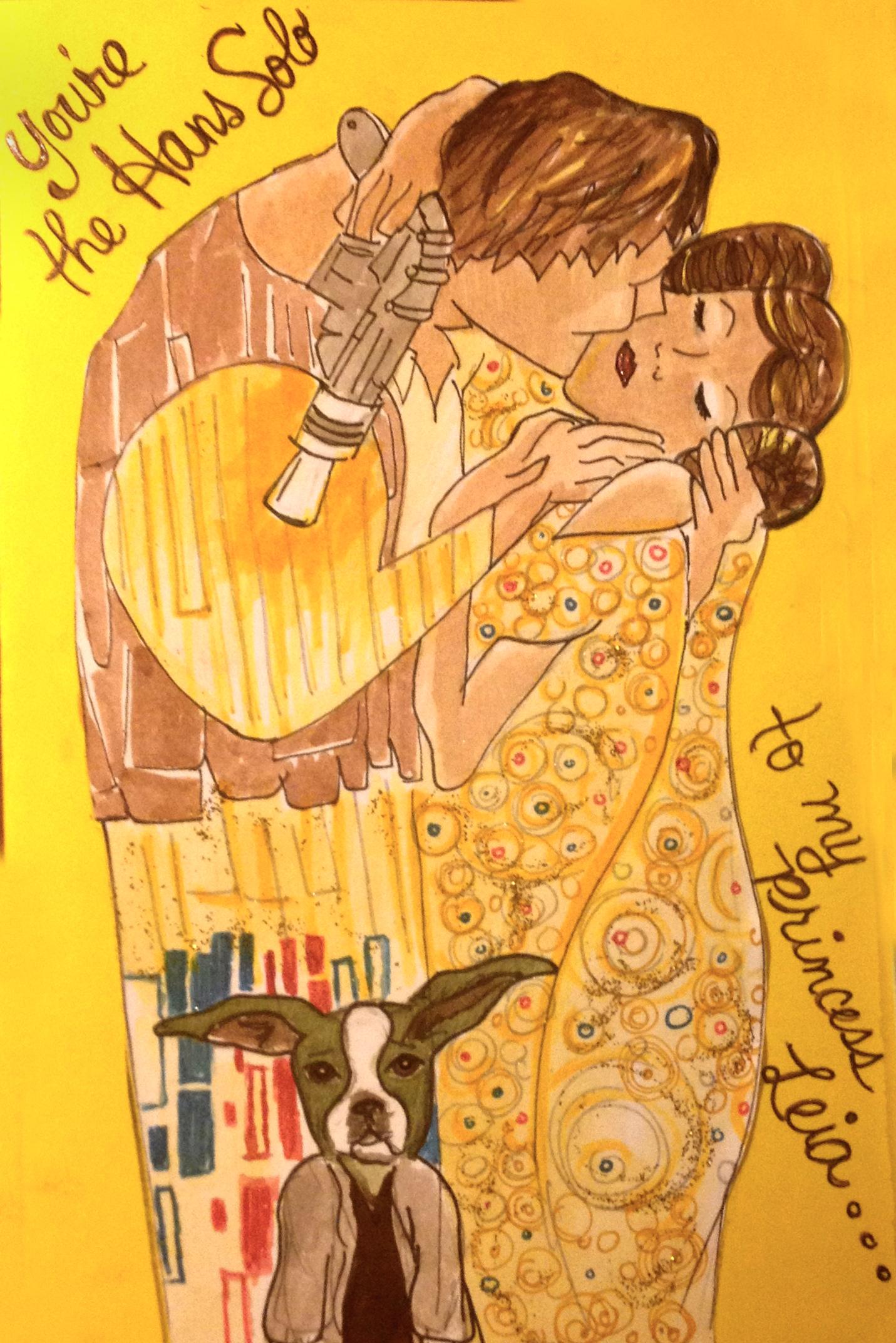 Han and Leia_The Kiss
