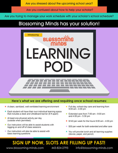 Blossoming Minds_Learning Pod Flier