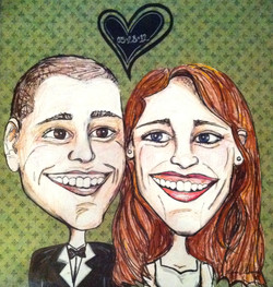 Margo Wedding Caricature