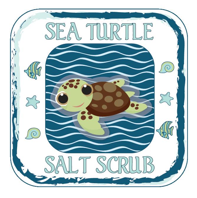 Sea Turtle Salt Scrub - Label-01
