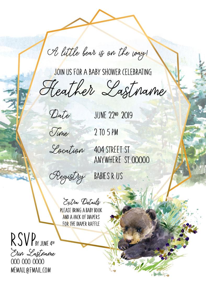 Baby Bear_Baby Shower Invitation 02