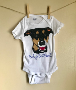 Baby's Best Friend Custom Onesie