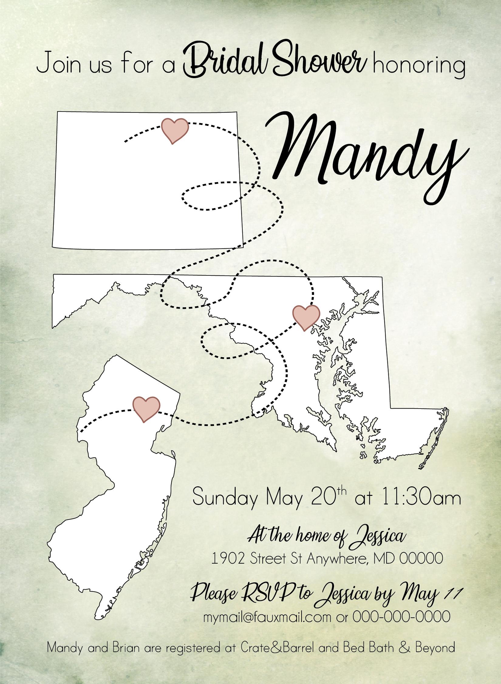 Love in States Wedding Invitation 02