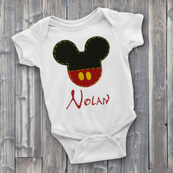 Disney Name Custom Onesie