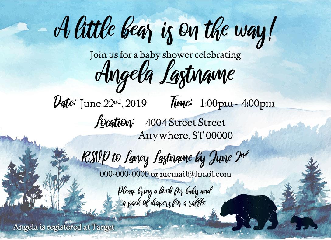Baby Bear_Baby Shower Invitation 03