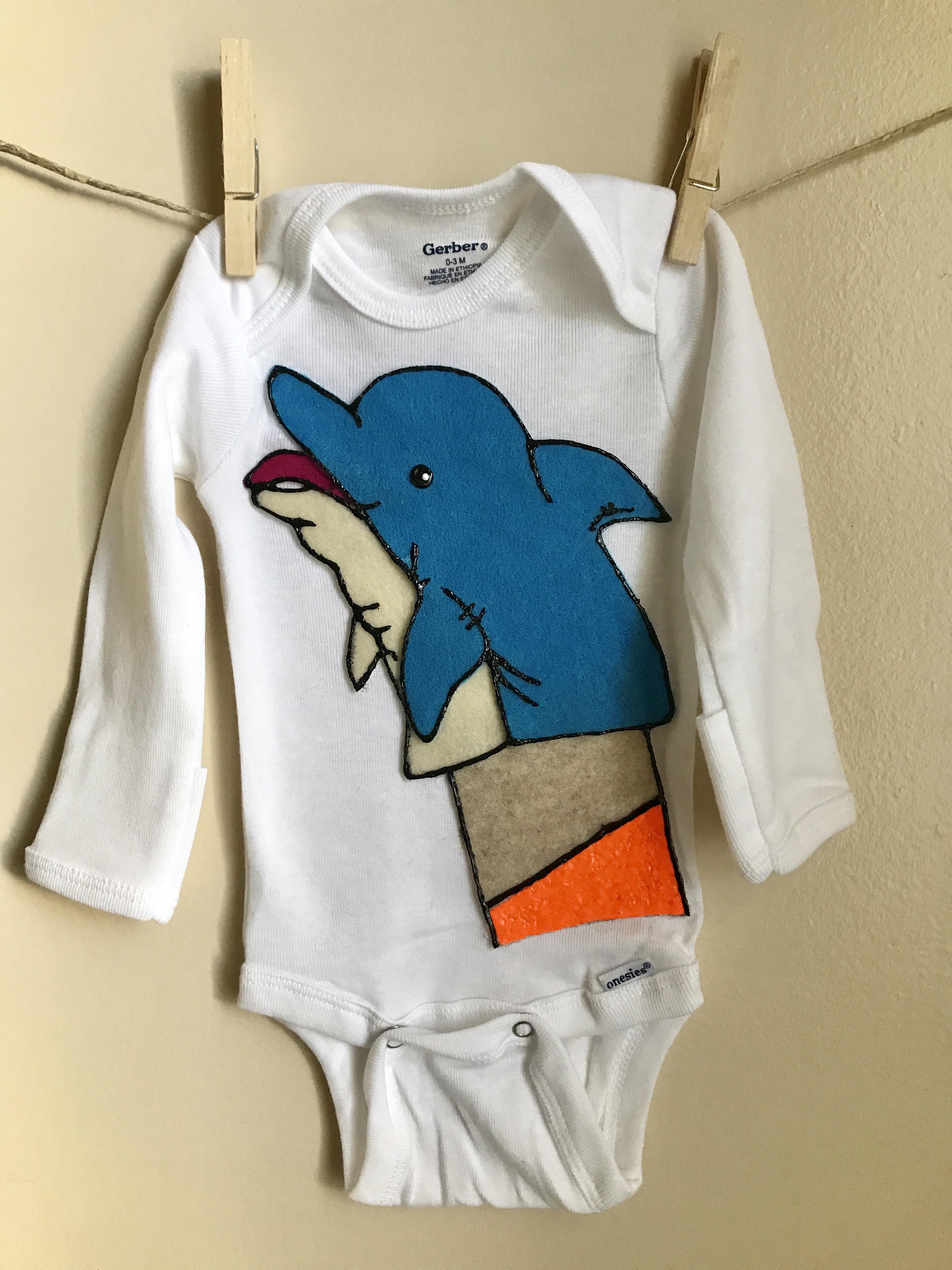 Archer Dolphin Custom Onesie