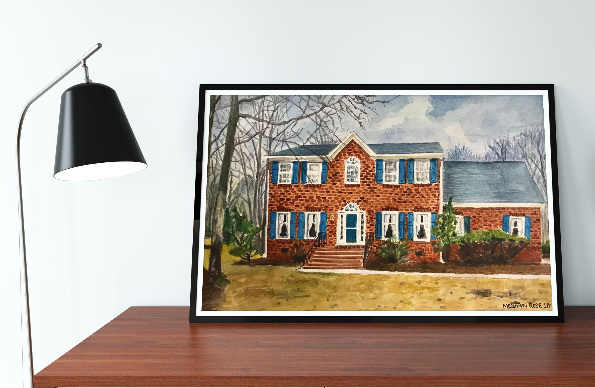House Portrait Red Brick