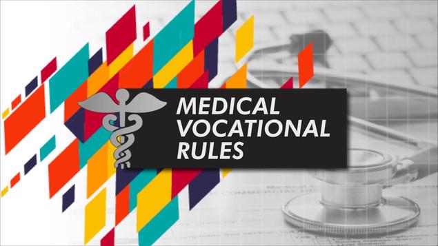 Medical Vocational Rules_VOD Title Design