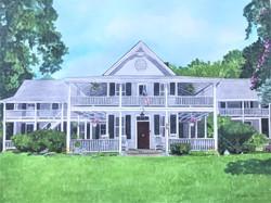 Historic Colonial House Portrait
