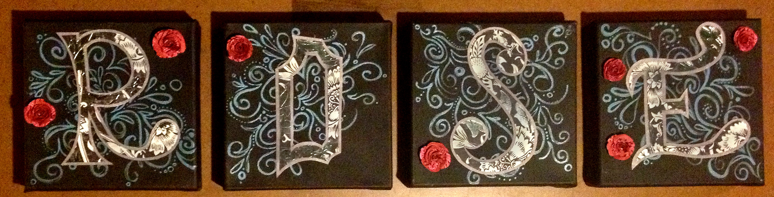 Rose Wall Canvases 2