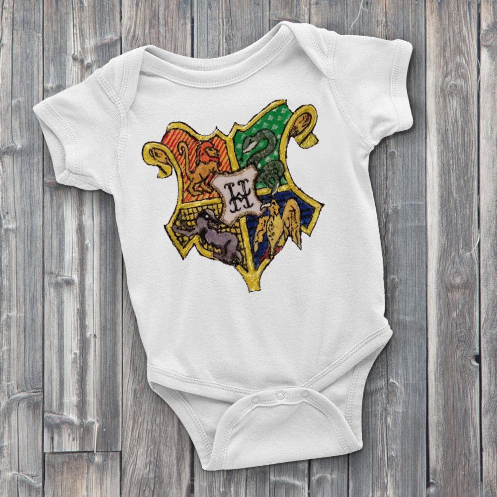 Hogwarts Crest Custom Onesie