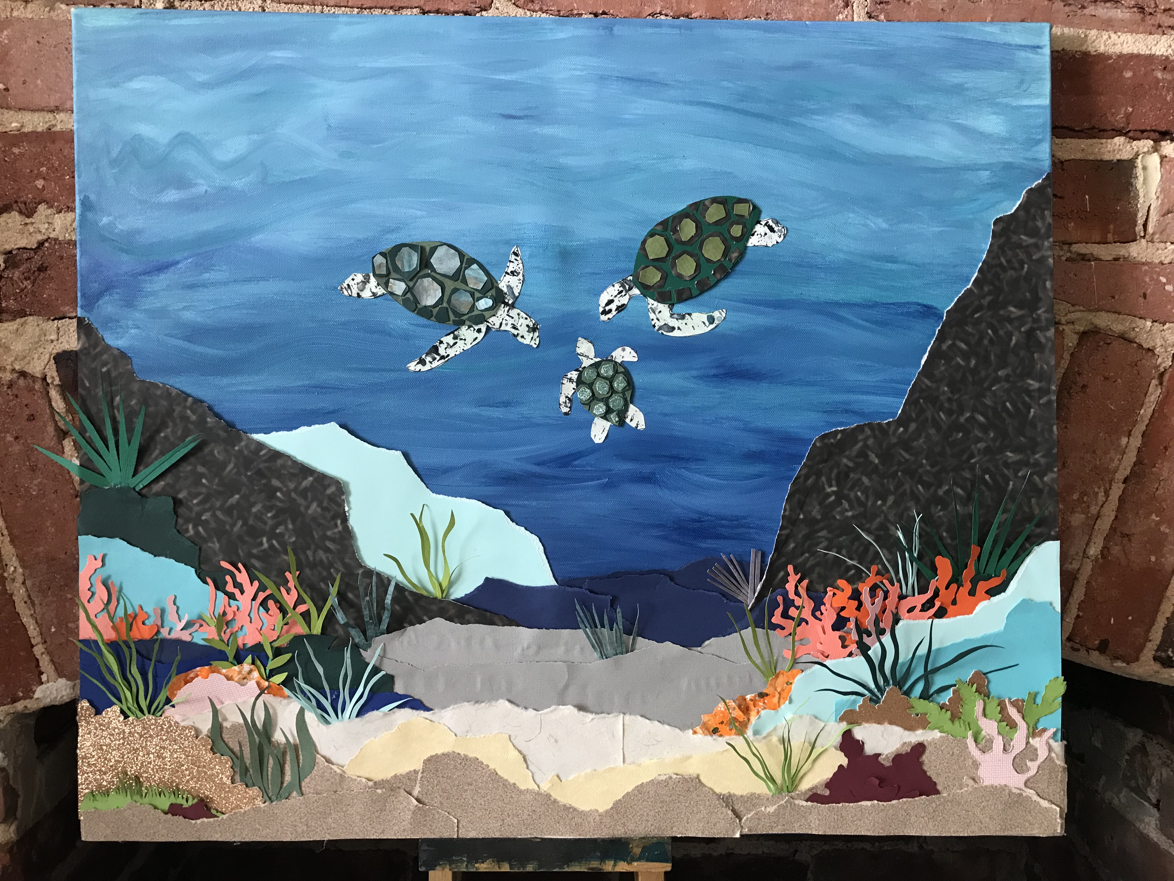 Sea Turtles_Guest Book Canvas