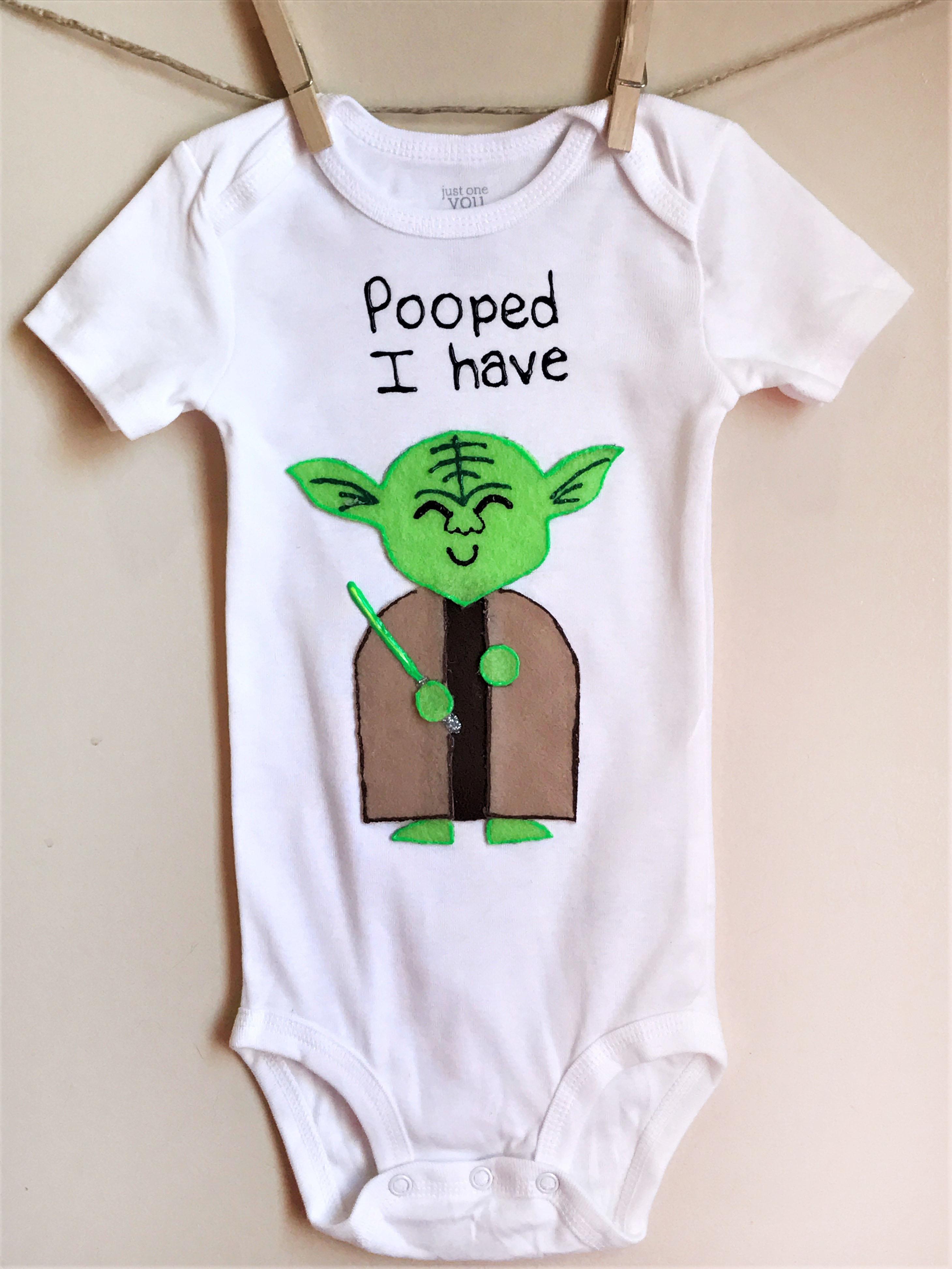 Yoda Pooped Custom Onesie